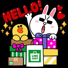 海外限定スタンプ::LINEショップ:LINEキャラクターとショッピング(タイ)