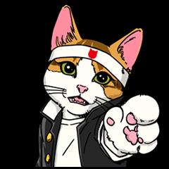 限定スタンプ::なめ猫 学割応援団!