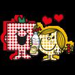 隠しスタンプ::エビアン × ミスターメン リトルミス