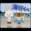 音付きスタンプ::紙兎ロペ(夏休み編) しゃべるスタンプ