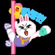 公式スタンプ::LINEキャラ★Party Time
