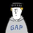 隠し無料スタンプ::GAP日本上陸20周年記念スタンプ
