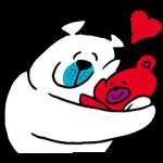 限定無料スタンプ::クマの親子♪タッフィー&ハッピー☆