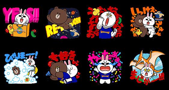 限定無料スタンプ::RE-BORN!LINEキャラクターズ