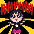 公式スタンプ::動く☆ちびまる子ちゃん ロックスタイル