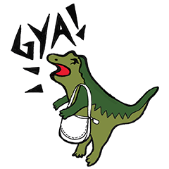 限定無料スタンプ::Meet Rexy,the COACH dino!