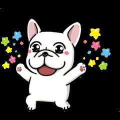 音付きスタンプ::DOCA 明るすぎる犬