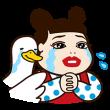 限定無料スタンプ::人気芸人×アフラックコラボスタンプ