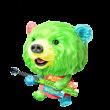 限定無料スタンプ::サランラップ®の、たぶん、クマ。