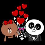 とび出るスタンプ::チョコ&パンヨのラブラブデート