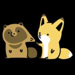 人気スタンプ特集::タヌキとキツネ2