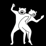 人気スタンプ特集::けたたましく動くクマ3