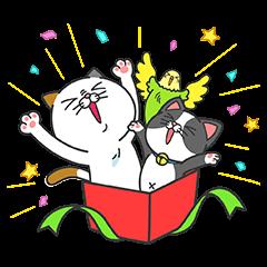 限定無料スタンプ::タマ川 ヨシ子(猫)が飛び出す第11弾!