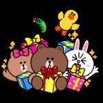 限定無料スタンプ::LINE Characters with SMART PARTY