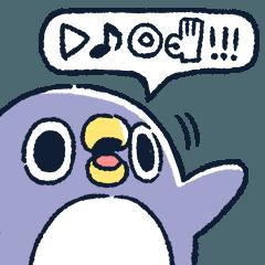 人気スタンプ特集::なにか伝えたいペンギン