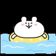 人気スタンプ特集::動く!ゆるくま5 夏!!
