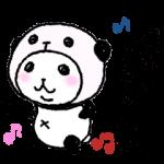 人気スタンプ特集::パンダinぱんだ (うご5 ~テンションMAX~)