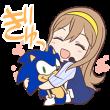 隠し無料スタンプ::ラブライブ!×SEGA 花丸&ソニック
