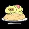人気スタンプ特集::食べてるとき以外眠いたぬきスタンプ