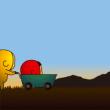 人気スタンプ特集::黄色いヤツ、夕焼け色。