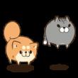人気スタンプ特集::ボンレス犬とボンレス猫 む~ぶ