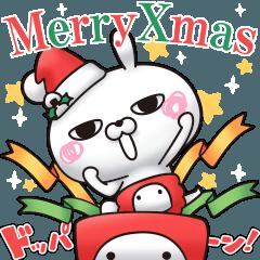 人気スタンプ特集::ひとえうさぎ19(クリスマス・冬編)