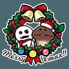 人気スタンプ特集::なめこのクリスマス&お正月