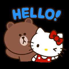 人気スタンプ特集::LINE FRIENDS & HELLO KITTY vol.2