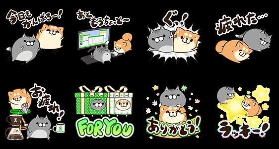 限定無料スタンプ::LINE STORE x ボンレス犬&猫
