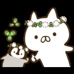 人気スタンプ特集::ねこぺん日和(春の日)