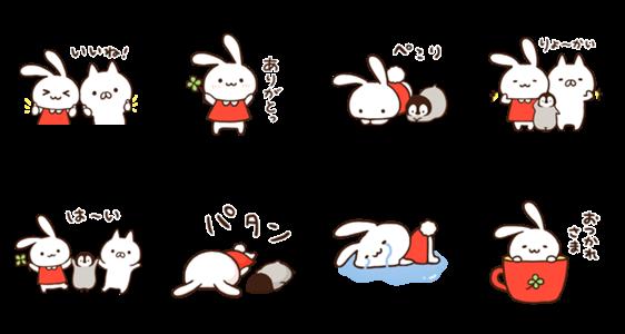 隠し無料スタンプ::ミミちゃん×ねこぺん日和★スタンプ第2弾