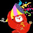 隠し無料スタンプ::フクロウのヨヨキー3 by代ゼミ