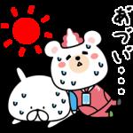 限定無料スタンプ::★夏!★ゆるうさぎ×クマホン