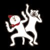 限定無料スタンプ::けたたましく動くクマ×ホンディー