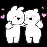 人気スタンプ特集::すこぶる動くちびウサギ&クマ【愛】