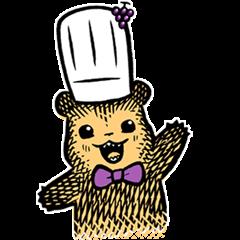 隠し無料スタンプ::ウェルチ×こぐまのケーキ屋さん