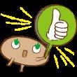 """限定無料スタンプ::キモチがたのしく届く木の精""""きこりん"""""""