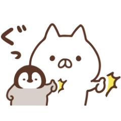 限定無料スタンプ::ねこぺん日和×ユニクロ