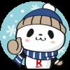 人気スタンプ特集::お買いものパンダ 冬のほっこり編