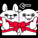限定無料スタンプ::うさぎ&くま100%×LINEギフト