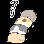 限定無料スタンプ::庭猫もる × LINEMO(ラインモ)