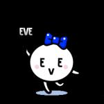動く限定スタンプ::ようせいイブちゃん by EVE