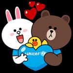 限定スタンプ::LINE x UNICEF スペシャルエディション