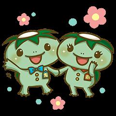 隠し無料スタンプ::かっぱ寿司 カーくん&パー子ちゃん