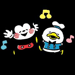 公式スタンプ::Disney Mickey u0026 Friends by Kanahei