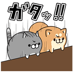隠し無料スタンプ::LINE LIVE×ボンレス犬&猫コラボ