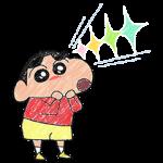 公式スタンプ::ほのぼの~♪クレヨンタッチしんちゃん