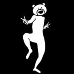 人気スタンプ特集::けたたましく動くクマ