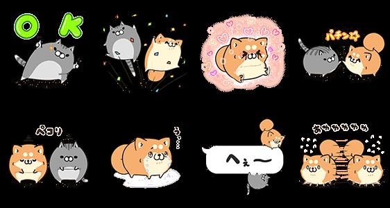 限定無料スタンプ::ボンレス犬猫 x 便利アカウント