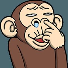 人気スタンプ特集::イラッと動く★お猿さん